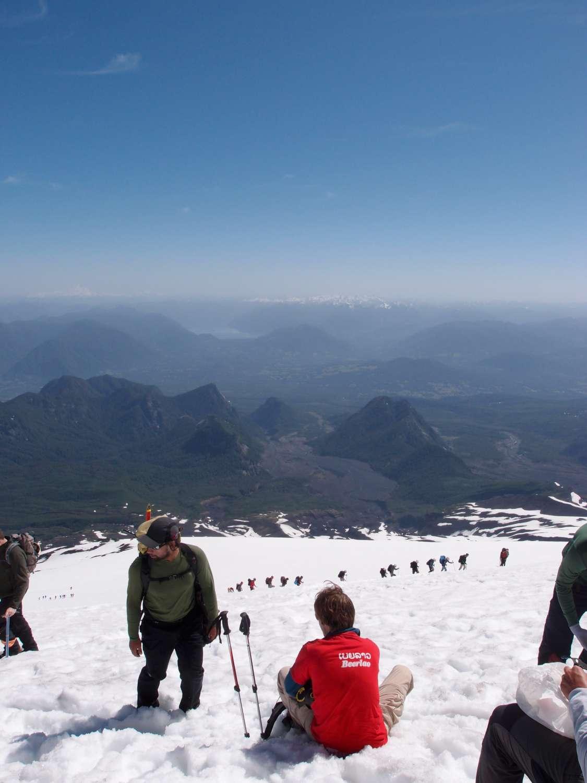 climbing Rucapillán